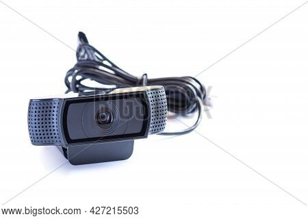 Web Camera Or Webcam Is The Equipment Of Internet Video Calls For Online Learning Or Business Confer