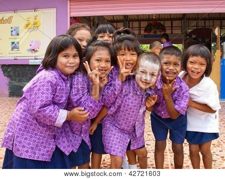 Kindergarten Students In A Muslim Public School In A Rural Area Of Pathumthani Province, Thailand (4