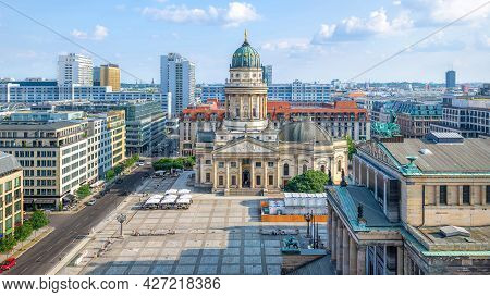 Panoramic View At The Gendarmenmarkt In Berlin