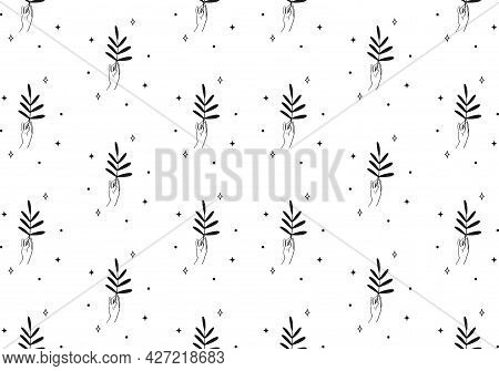 Vector Seamless Backround And Pattern With Branch