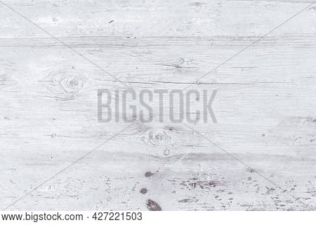 White Wood For Background, White Wooden Boards Background, Top View Of A Wooden Old Table Background