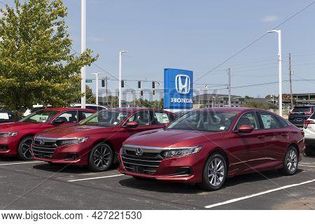 Avon - Circa July 2021: Honda Accord Display At A Dealership. The Honda Accord Is One Of The Top 25