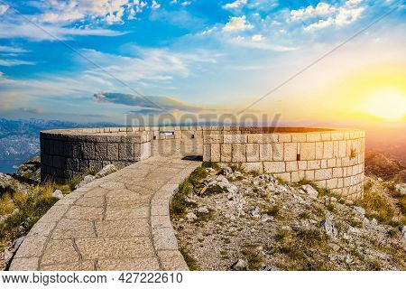 Viewpoint On The Top Of Mountains In Peter Njegosh Mausoleum, Montenegro