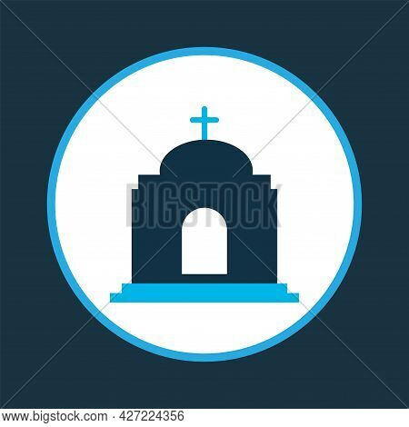 Temple Icon Colored Symbol. Premium Quality Isolated Catholic Element In Trendy Style.