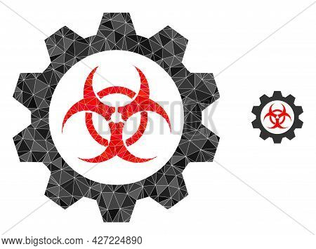 Triangle Toxic Industry Polygonal Icon Illustration. Toxic Industry Lowpoly Icon Is Filled With Tria