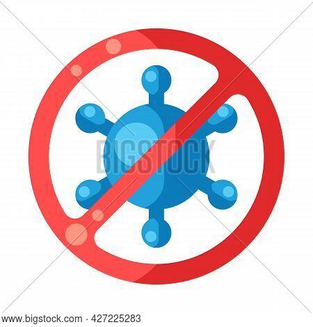 Stop Covid-19. Background With Coronavirus Molecule. Illustration Of New Virus Symbol.