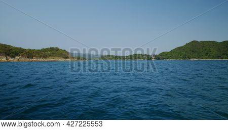 Island sea and the blue sky