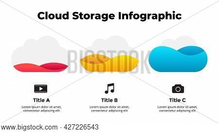 Infographic Slide Template For Your Presentation. Cloud Service Icons. Creative Web Concept. Interne