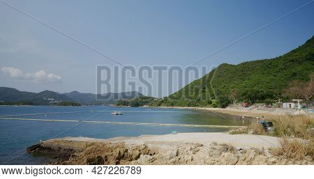 Beach on sharp Island in Sai Kung of Hong Kong