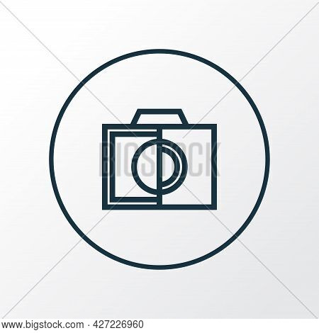 Colorless Icon Line Symbol. Premium Quality Isolated Monochrome Element In Trendy Style.