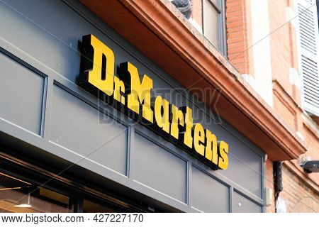 Toulouse , Occitanie France  - 06 25 2021 : Dr Martens Store Logo And Text Sign Of British Shoes Wor