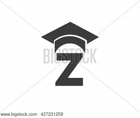 Education Logo With Z Letter Hat Concept. Graduation Logo With Z Letter Vector