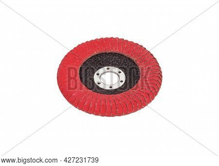 Flap Disk For The Angle Grinder In Red Color. Flap Disc For Angle Grinder.