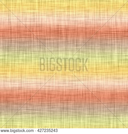 Horizontal Melange Stripe Wash Out Background. Hand Painted Farmhouse Cottage Linen Seamless Pattern