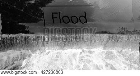 Flood Animation. Floods On The Planet. Tragic. Floods Background.