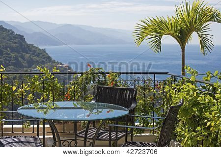 Table With Pacific Ocean View