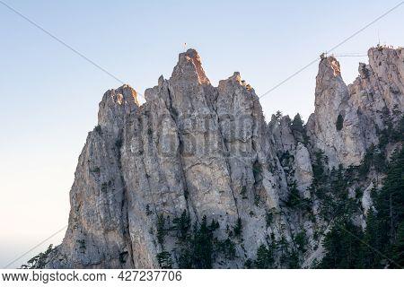 Top Of Ai Petri Mountain In Crimea