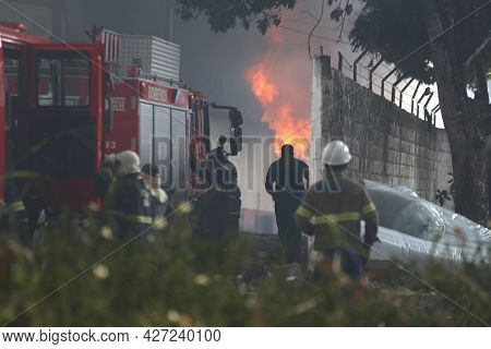 Firefighters During Firefighting