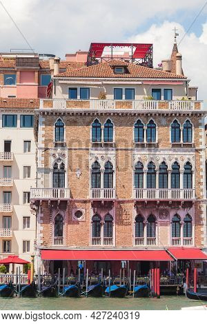 Venice, Italy - June 15, 2016 Hotel Bauer Palazzo On The Grand Canal, Venice, Italy