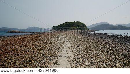Sai Kung, Hong Kong 14 April 2021: Sharp island in Hong Kong