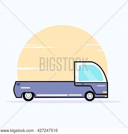 Pick Up Car Delivery Flat Design Style Illustration