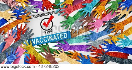 Vaccinated Society And Immune People Due To Taking The First Dose And Second Booster Medicine As A C