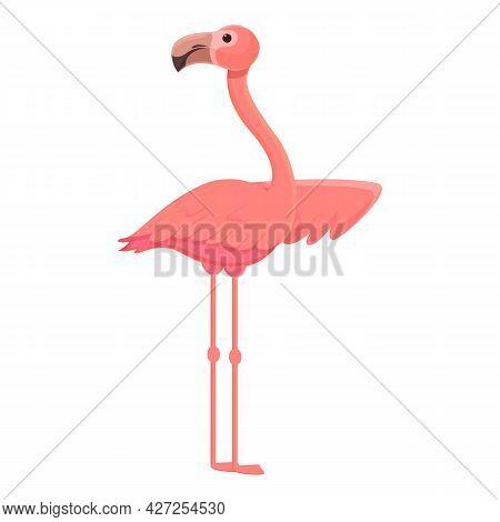 Flying Flamingo Icon Cartoon Vector. Tropical Bird. Nature Flamingo
