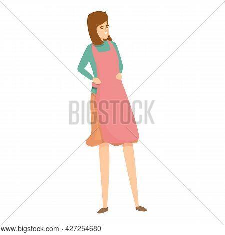 Mom Apron Icon Cartoon Vector. Woman Housewife. Cook Housework