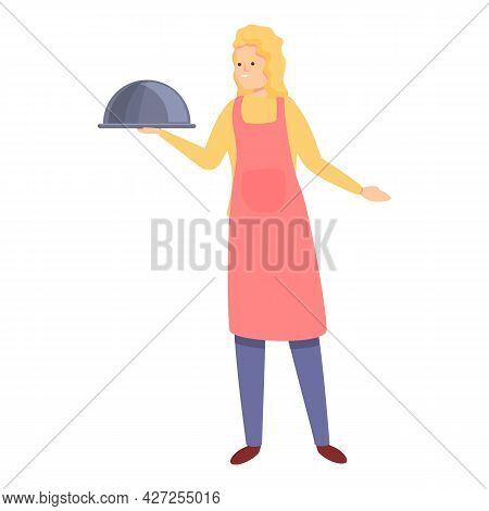 Housewife Cook Icon Cartoon Vector. Mom Kitchen. Food Dinner