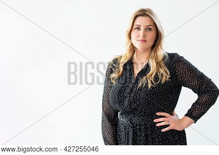 Plus Size Beauty. Successful Woman. Body Positive. Female Rights. Confident Independent Overweight O