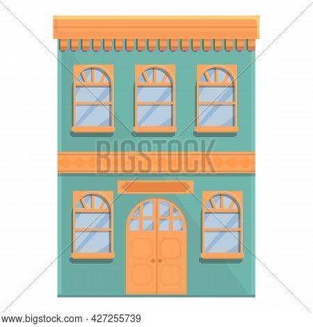 Street Cafe Entrance Icon Cartoon Vector. Coffee Shop. Drink Building