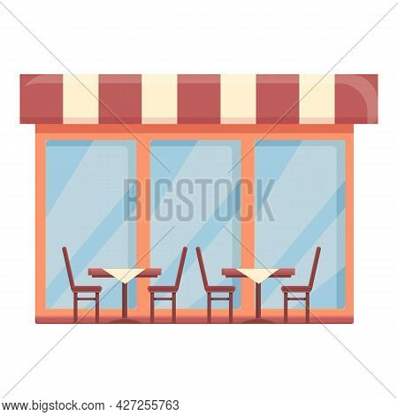 Chair Street Cafe Icon Cartoon Vector. Coffee Shop. Cafeteria Building