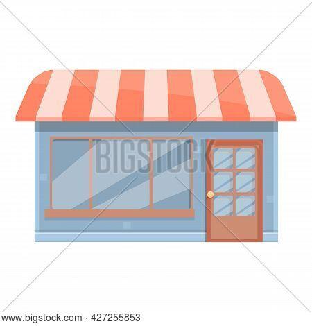 City Street Cafe Icon Cartoon Vector. Coffee Cafeteria. Drink Shop