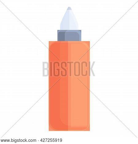 Hair Colouring Paint Bottle Icon Cartoon Vector. Spray Dye Color. Beauty Tube