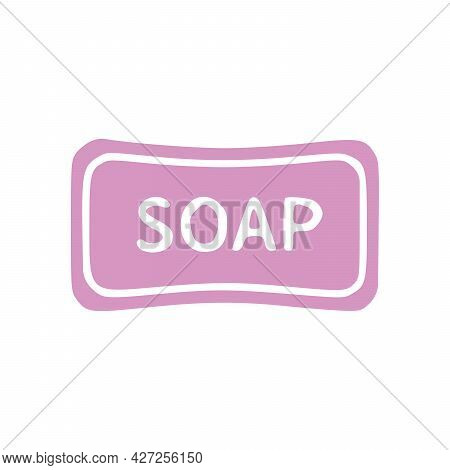 Soap Icon. Soap Sign. Simple Flat Logo Of Soap On White Background. Vector Illustration