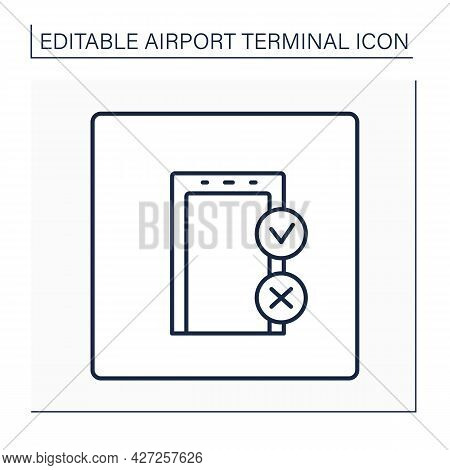 Gate Line Icon. Departure Gate. Check-in Bags And Passengers Before Flight. Screening And Security.