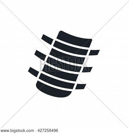 Ribs Silhouette. Black Isolated Silhouettes. Fill Solid Icon. Modern Glyph Design. Vector Illustrati