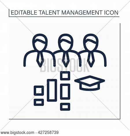 Employee Training Programs Line Icon. Program Designed To Develop And Improve Worker Technical And S