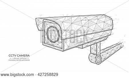Cctv Low Poly Art. Vector Polygonal Illustration Of Cctv Camera, Security Camera, Video Surveillance