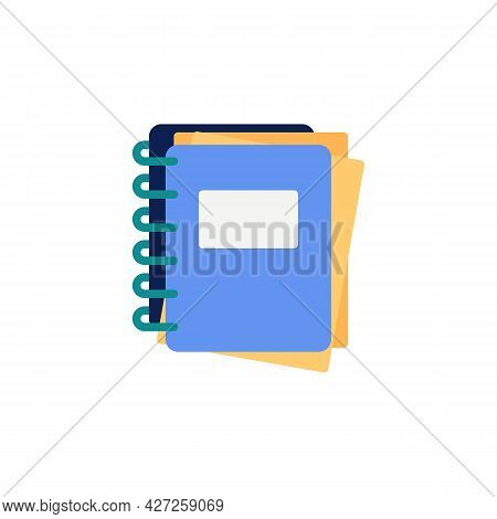 Notebook Flat Icon, Vector Sign, Notepad Colorful Pictogram Isolated On White. Symbol, Logo Illustra
