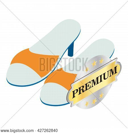 Mule Shoes Icon Isometric Vector. Stylish Women Mules, Summer Footwear. Premium Quality Sign