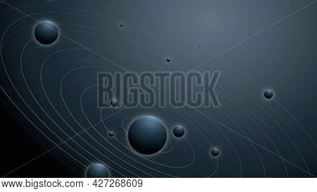 Solar system galaxy background with planets in aesthetic style