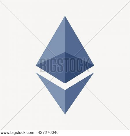 Ethereum blockchain cryptocurrency icon open-source finance concept
