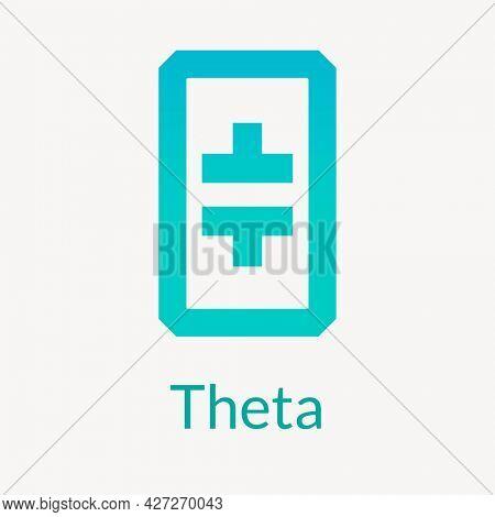 Theta blockchain cryptocurrency logo open-source finance concept