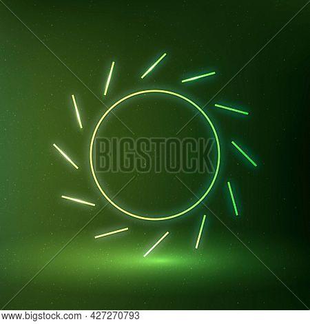 Sun icon renewable energy symbol