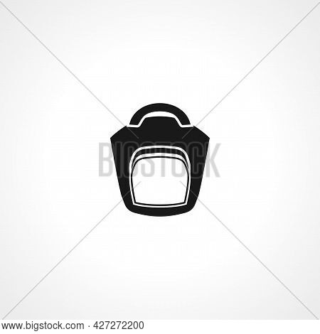 Camera Bag Icon. Camera Bag Isolated Simple Vector Icon.