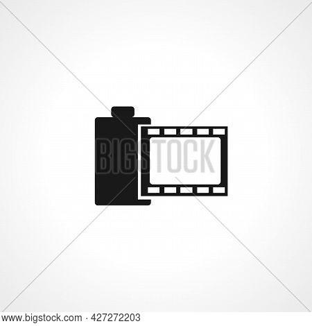 Camera Film Icon. Camera Film Isolated Simple Vector Icon.