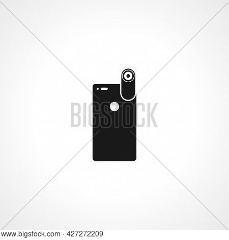 Camera For Mobile Phone Icon. Camera For Mobile Phoneisolated Simple Vector Icon.
