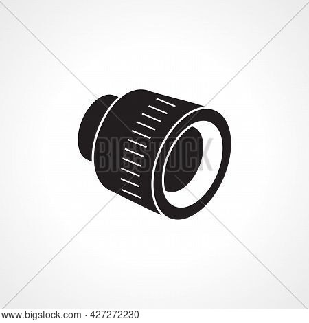 Camera Lens Icon. Camera Lens Isolated Simple Vector Icon.
