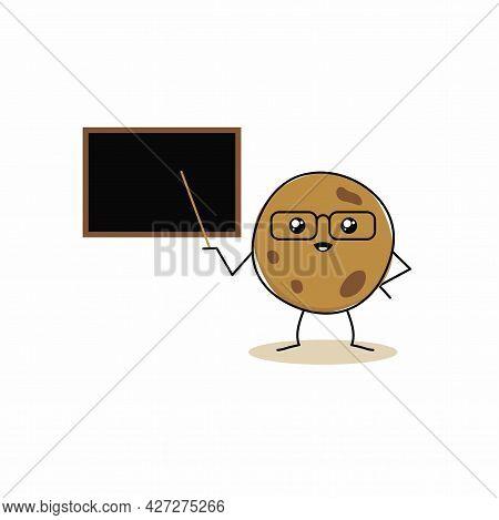 Cartoon Of Cute Sweet Cookies Character Design, Cookies Model Illustration Template Vector